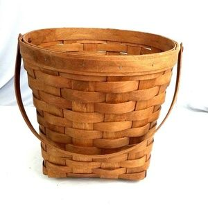 Round Basket Large Brown Square Bottom Size 10""